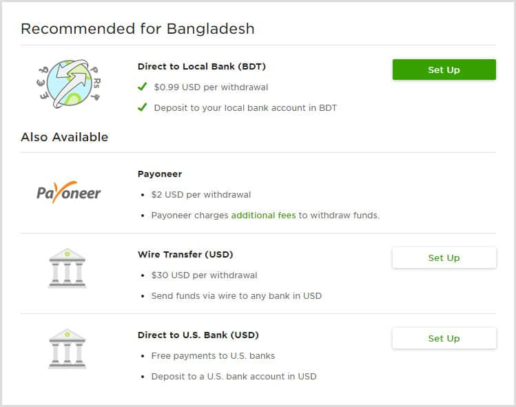 Best way to send freelancing income to Bangladesh