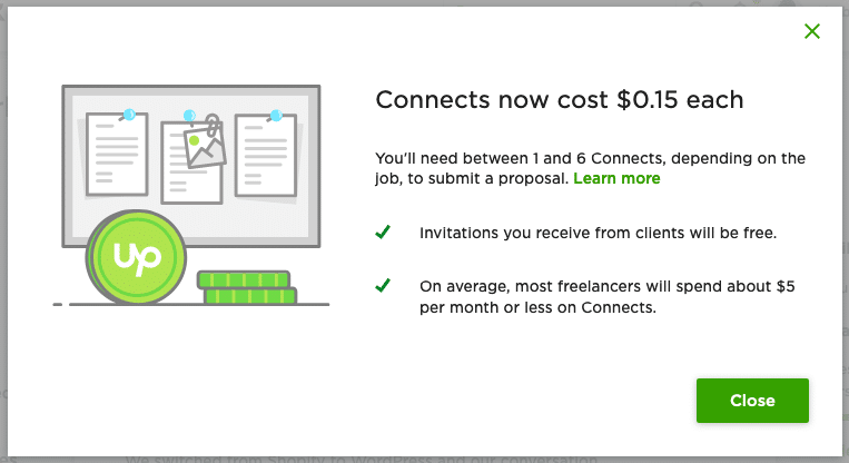 Upwork New Connects Policy 2019